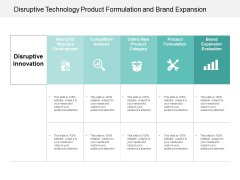 Disruptive Technology Product Formulation And Brand Expansion Ppt Powerpoint Presentation Outline Model