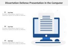 Dissertation Defense Presentation In The Computer Ppt PowerPoint Presentation Professional Background Designs PDF