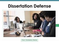 Dissertation Defense Researcher Strategy Ppt PowerPoint Presentation Complete Deck