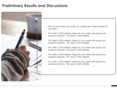 Dissertation Planning Proposal Preliminary Results And Discussions Ppt Professional Pictures PDF