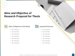 Dissertation Research Aims And Objective Of Research Proposal For Thesis Ppt File Layout Ideas PDF