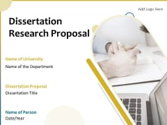 Dissertation Research Proposal Ppt PowerPoint Presentation Complete Deck With Slides