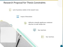 Dissertation Research Research Proposal For Thesis Constraints Ppt Layouts Portrait PDF
