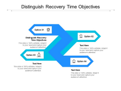 Distinguish Recovery Time Objectives Ppt PowerPoint Presentation Icon Format Ideas Cpb