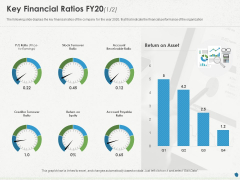 Distressed Debt Refinancing For Organizaton Key Financial Ratios FY20 Equity Ppt PowerPoint Presentation Layouts Microsoft PDF