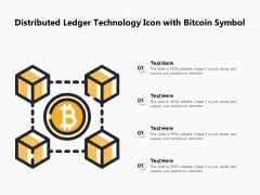 Distributed Ledger Technology Icon With Bitcoin Symbol Ppt PowerPoint Presentation File Graphic Images PDF