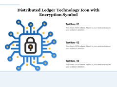 Distributed Ledger Technology Icon With Encryption Symbol Ppt PowerPoint Presentation Gallery Visuals PDF