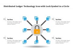 Distributed Ledger Technology Icon With Lock Symbol In A Circle Ppt PowerPoint Presentation Gallery Graphics PDF