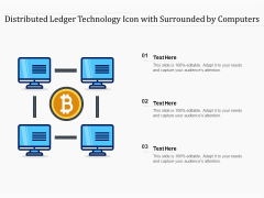 Distributed Ledger Technology Icon With Surrounded By Computers Ppt PowerPoint Presentation Icon Professional PDF