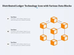 Distributed Ledger Technology Icon With Various Data Blocks Ppt PowerPoint Presentation Gallery Graphics PDF