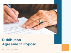 Distribution Agreement Proposal Ppt PowerPoint Presentation Complete Deck With Slides