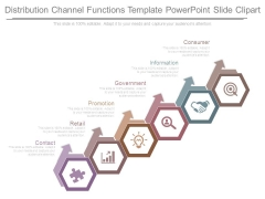 Distribution Channel Functions Template Powerpoint Slide Clipart