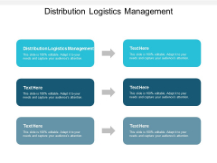 Distribution Logistics Management Ppt PowerPoint Presentation Layouts Infographic Template Cpb