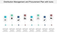 Distribution Management And Procurement Plan With Icons Ppt PowerPoint Presentation Samples