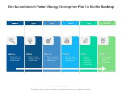 Distribution Network Partner Strategy Development Plan Six Months Roadmap Download