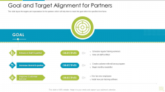 Distributor Entitlement Initiatives Goal And Target Alignment For Partners Brochure PDF