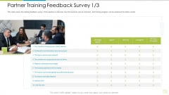 Distributor Entitlement Initiatives Partner Training Feedback Survey Content Graphics PDF