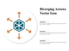 Diverging Arrows Vector Icon Ppt PowerPoint Presentation File Summary