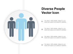 Diverse People Vector Icon Ppt PowerPoint Presentation File Professional