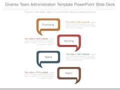 Diverse Team Administration Template Powerpoint Slide Deck