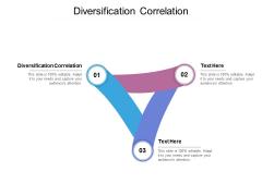 Diversification Correlation Ppt PowerPoint Presentation Portfolio Portrait Cpb