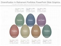 Diversification In Retirement Portfolios Powerpoint Slide Graphics