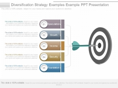 Diversification Strategy Examples Example Ppt Presentation
