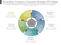 Diversified Company Corporate Strategy Ppt Slides