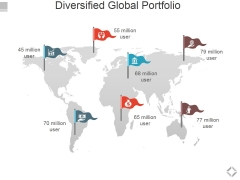 Diversified Global Portfolio Ppt PowerPoint Presentation Model Design Templates