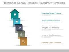 Diversifies Certain Portfolios Powerpoint Templates