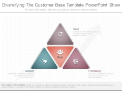 Diversifying The Customer Base Template Powerpoint Show