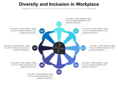 Diversity And Inclusion In Workplace Ppt PowerPoint Presentation Summary Structure PDF