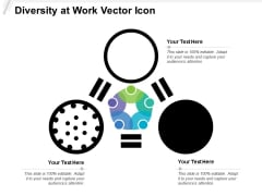 Diversity At Work Vector Icon Ppt PowerPoint Presentation Icon Inspiration PDF