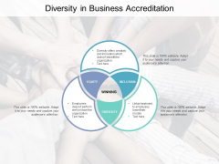 Diversity In Business Accreditation Ppt Powerpoint Presentation Pictures Graphic Tips