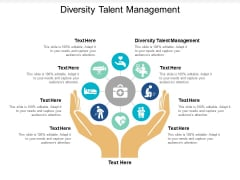 Diversity Talent Management Ppt PowerPoint Presentation Summary Graphics Download Cpb