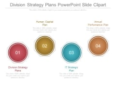 Division Strategy Plans Powerpoint Slide Clipart