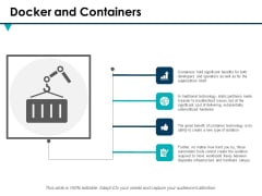Docker And Containers Ppt PowerPoint Presentation Infographic Template Pictures