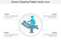 Doctor Checking Patient Vector Icon Ppt PowerPoint Presentation Ideas Show