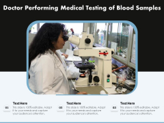 Doctor Performing Medical Testing Of Blood Samples Ppt PowerPoint Presentation File Example Introduction PDF