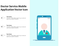 Doctor Service Mobile Application Vector Icon Ppt PowerPoint Presentation Styles Visual Aids PDF
