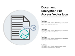 Document Encryption File Access Vector Icon Ppt PowerPoint Presentation Inspiration Guidelines