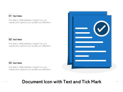 Document Icon With Text And Tick Mark Ppt PowerPoint Presentation File Designs PDF
