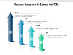 Document Management In Business With PDCA Ppt PowerPoint Presentation Infographics Design Ideas PDF