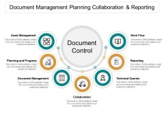 Document Management Planning Collaboration And Reporting Ppt PowerPoint Presentation Design Ideas