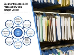 Document Management Process Flow With Version Control Ppt PowerPoint Presentation File Master Slide PDF