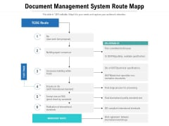 Document Management System Route Mapp Ppt PowerPoint Presentation Gallery Graphics Template PDF