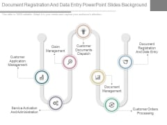 Document Registration And Data Entry Powerpoint Slides Background