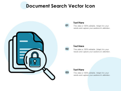 Document Search Vector Icon Ppt PowerPoint Presentation Pictures Example Topics