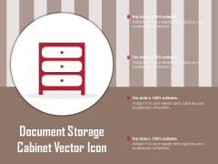 Document Storage Cabinet Vector Icon Ppt PowerPoint Presentation Visual Aids Backgrounds