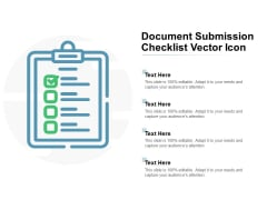 Document Submission Checklist Vector Icon Ppt PowerPoint Presentation Portfolio Rules